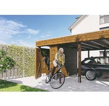 Carport pour deux véhicules Skanholz Friesland 557 x 708 cm, noyer-thumb-4