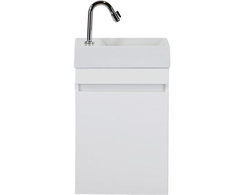 Ensemble de meubles de salle de bains Maxim blanc haute brillance