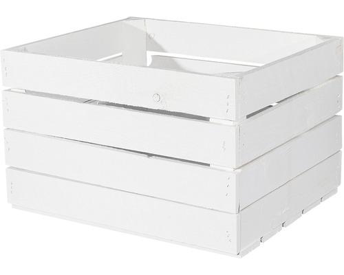 Caisse à fruits Vintage blanche 50x40x30 cm