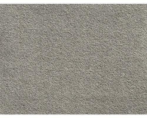 Moquette Saxony Grizzly gris beige 400cm de largeur (au mètre)