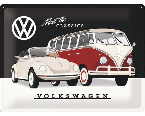 Plaque en tôle VW Classics 30x40cm