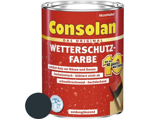 Wetterschutzfarbe anthrazitgrau 750 ml
