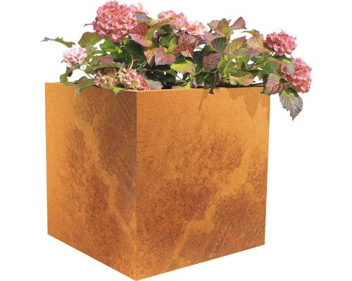 Bac à plantes Palatino Nora acier Corten 60x60x60 cm rouille