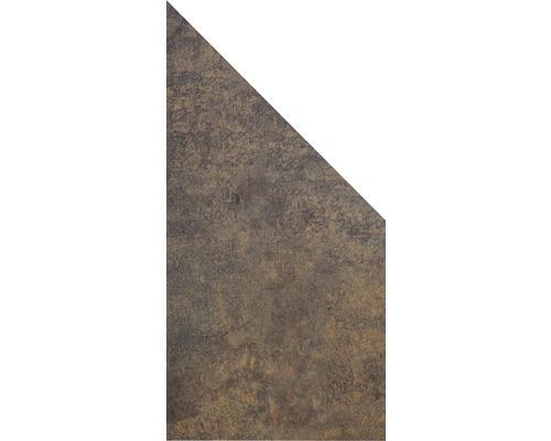 Élément d''extrémité GroJa Belfort 90x180/90 cm effet d''optique rouille