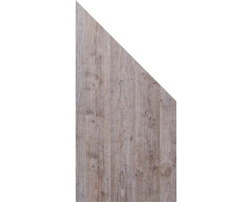 Élément d''extrémité GroJa Belfort 90x180/90 cm effet de bois