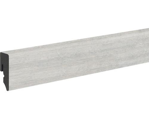 Plinthe Skandor PVC KU048L chêne gris cérusé 15x38,5x2400 mm