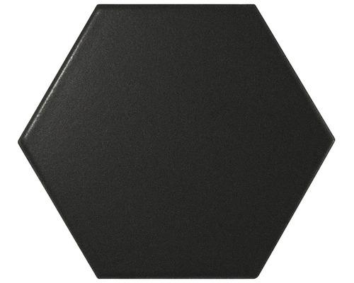 Carrelage en hexagone Hexa noir 14,2 x 16,4cm