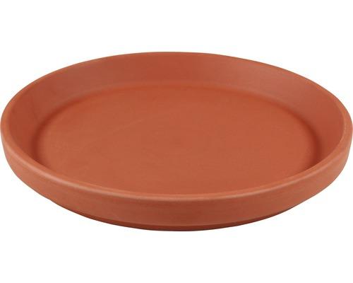 Soucoupe pour pot de fleurs Spang XLU argile Ø6,3 H1cm terre cuite