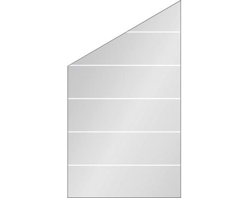 Elément de finition Vidrio verre à gauche 103x180/120 cm, rayures
