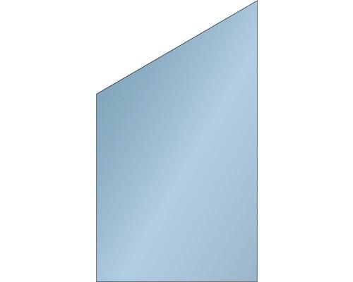 Elément de finition Vidrio verre 103x180/120 cm, bleu