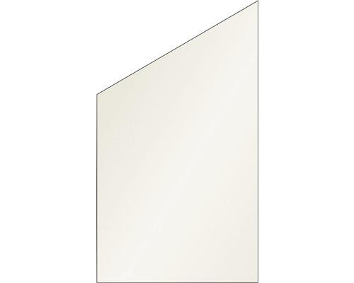 Elément de finition Vidrio verre à gauche 103x180/120 cm, crème
