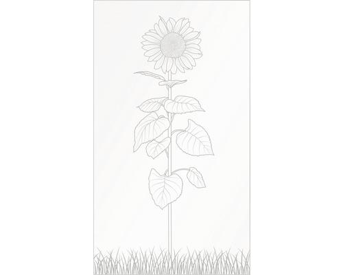 Elément principal Vidrio verre 103x180 cm, fleur