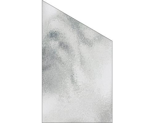 Elément de finition Vidrio verre à droite 103x180/120 cm, chinchilla