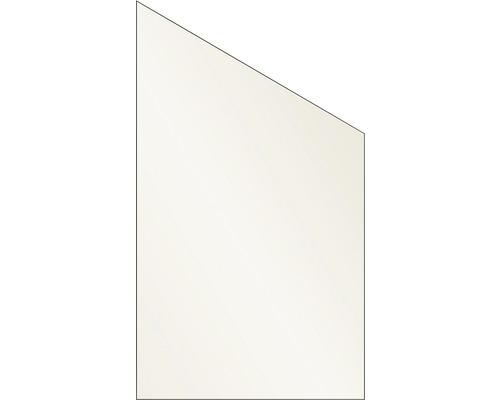 Elément de finition Vidrio verre à droite 103x180/120 cm, crème
