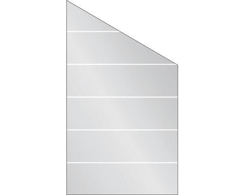 Elément de finition Vidrio verre à droite 103x180/120 cm, rayures