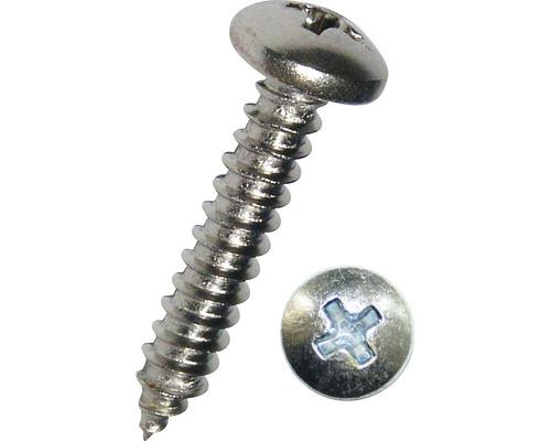 Vis à tôle à empreinte cruciforme DIN 7981 2,9x6,5mm acier inoxydable A2, 100pièces