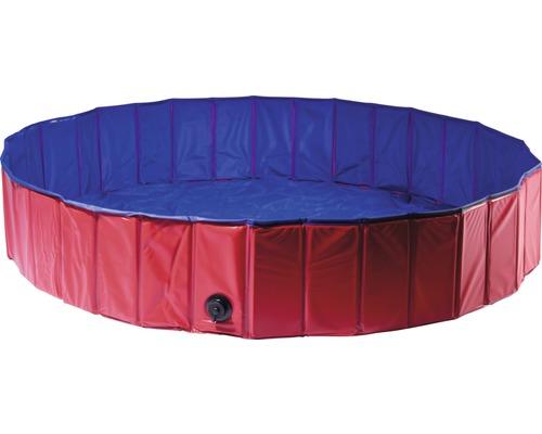 Piscine pour chiens taille L Ø160cm rouge/bleu