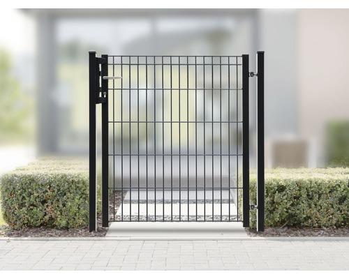 Portail de clôture MICHL 1 vantail 960x1030 mm, anthracite