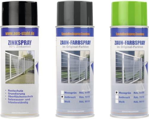 Spray zinc et spray de peinture AOS vert