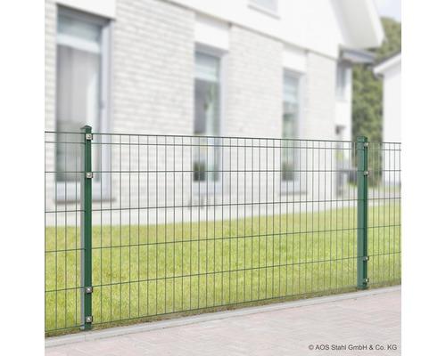 Ensemble complet pour clôture Michl longueur 4m x hauteur 805 mm avec poteaux et accessoires, vert