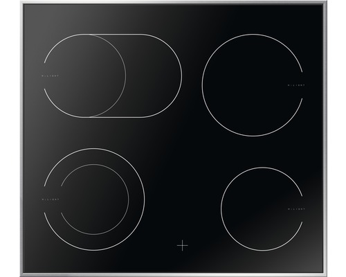 Plaque de cuisson vitrocéramique Amica EC 742 100 E, largeur 57,6 cm
