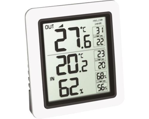 Thermomètre radio-guidé numérique intérieur-extérieur sans fil, sans pile