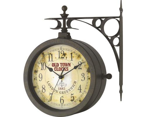 Horloge murale Nostalgie TFA analogique 29,5x27x9,5 cm métal, sans piles