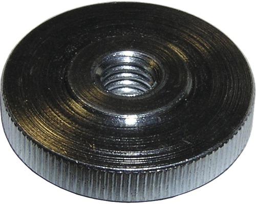Écrou moleté DIN 476 plat M3 galvanisé, 50 unités