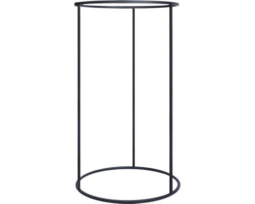Support pour pot de plante porte-plantes Laura métal Ø 43 h 75 cm noir