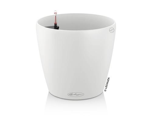 Pot de fleurs Lechuza Classico Color plastique Ø 18 h 17 cm blanc avec système d'arrosage de la terre