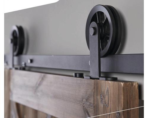 Schiebetürsystem Intersteel 200 cm Wheel Top schwarz