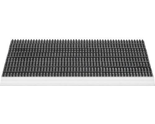 Paillasson aluminium Fantastic noir 43x75 cm