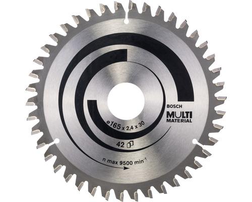 Lame de scie circulaire multi matériau Ø 165x30 mm Z 42