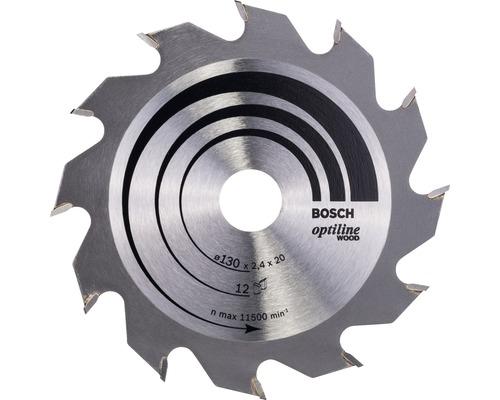 Lame de scie circulaire Optiline Wood Ø 130x20 mm Z 12