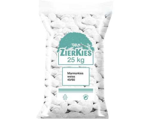 Gravier de marbre 40/60 25kg blanc
