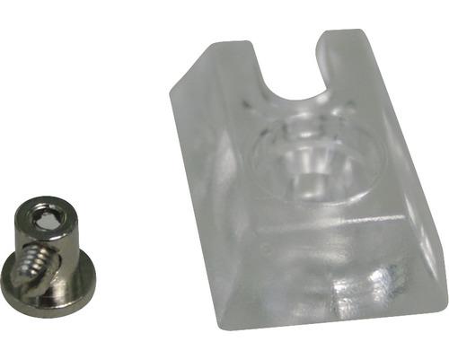Sabot de serrage en plastique & métal 16 & 25mm transparent