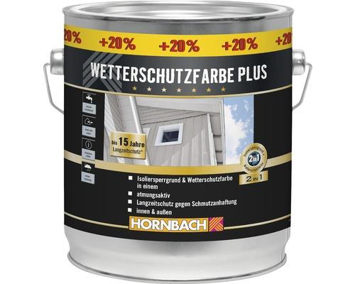 Peinture de protection du bois contre les intempéries Plus anthracite 3l (20% gratuits!)-0