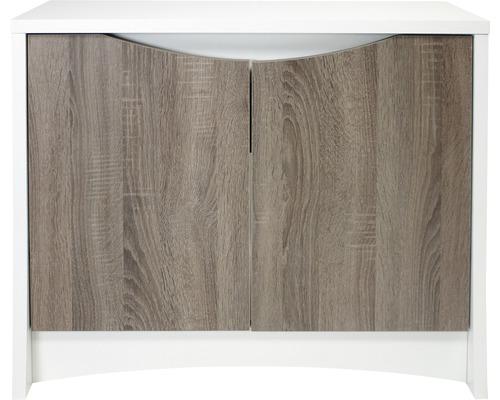 Meuble bas pour aquarium Fluval Flex 123 l 82,8 x 36,4 x 69 cm blanc-bois clair