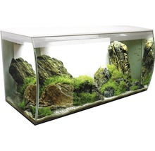 Aquarium Fluval Flex 123 l avec éclairage LED, filtre, support en mousse sans meuble bas, blanc-thumb-1