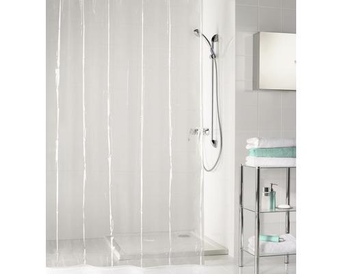 Rideau de douche Kleine Wolke Claro Clear 180 x 200 cm