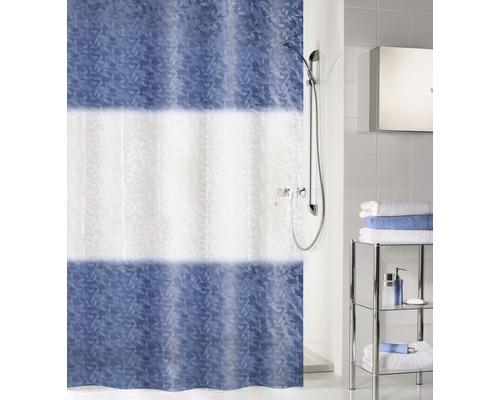 Rideau de douche Kleine Wolke Ray bleu foncé 180x200cm