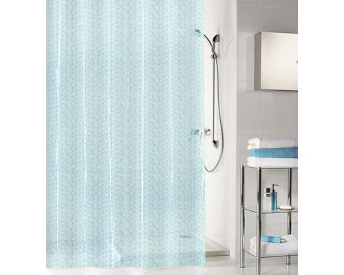 Rideau de douche Kleine Wolke Soapy bleu translucide 180x200cm
