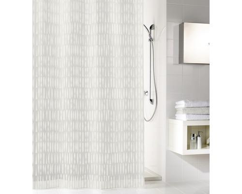 Rideau de douche Kleine Wolke Zora PEVA 180 x 200 cm blanc