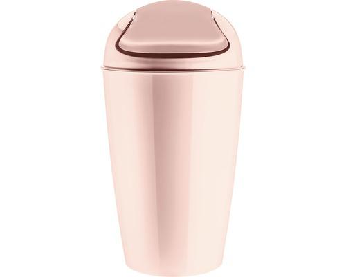 Poubelle à couvercle basculant koziol 30l DEL XL queen pink