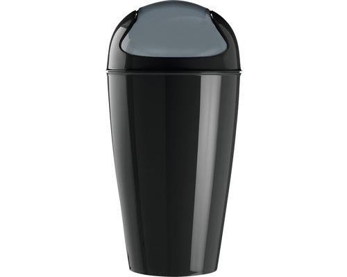 Poubelle à couvercle basculant koziol 30l DEL XL cosmos black
