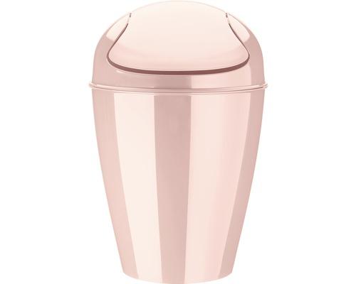 Poubelle à couvercle basculant koziol 12l DEL M queen pink