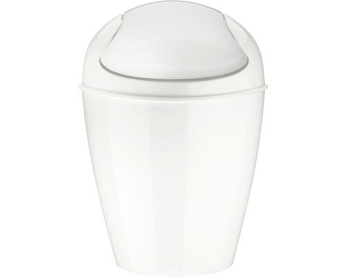 Poubelle à couvercle basculant koziol 0,9l DEL XXS cotton white