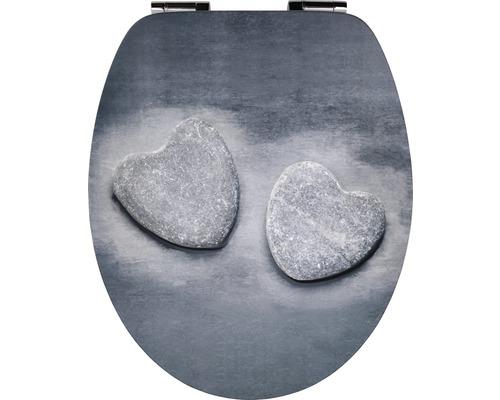 WC-Sitz form & style Stone Heart mit Absenkautomatik