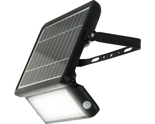 Projecteur solaire LED à capteur IP65 10W 1080 lm noir