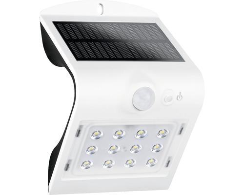 Applique extérieure LED solaire à capteur IP65 1,5W 220 lm blanc